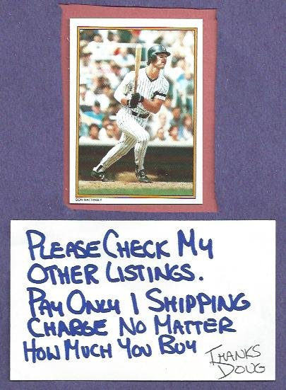 1987 Topps All Star Set Don Mattingly New York Yankees Dodgers Oddball # 1