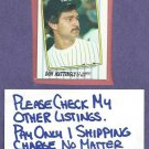 1987 Fleer League Leaders Box Set Don Mattingly New York Yankees Oddball # 28