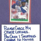 1992 Donruss The Rookies Pedro Martinez Dodgers Boston Red Sox # 69