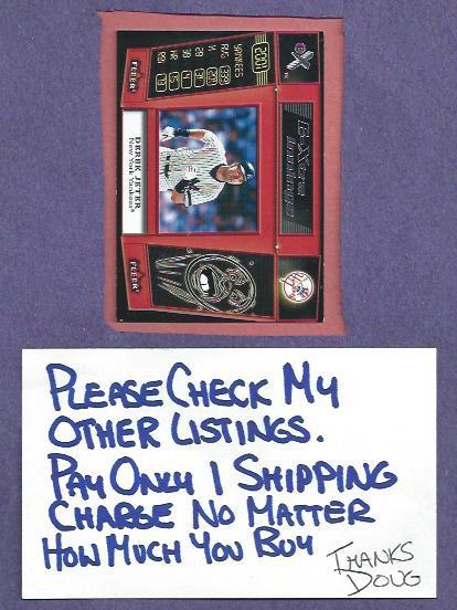 2001 Fleer Ex Extra Innings Derek Jeter New York Yankees Insert # 10