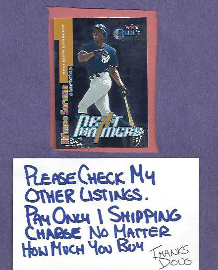 2000 Fleer Next Gamers Alfonso Soriano New York Yankees # 104 Insert
