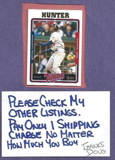 2005 Topps Torii Hunter Minnesota Twins # 3