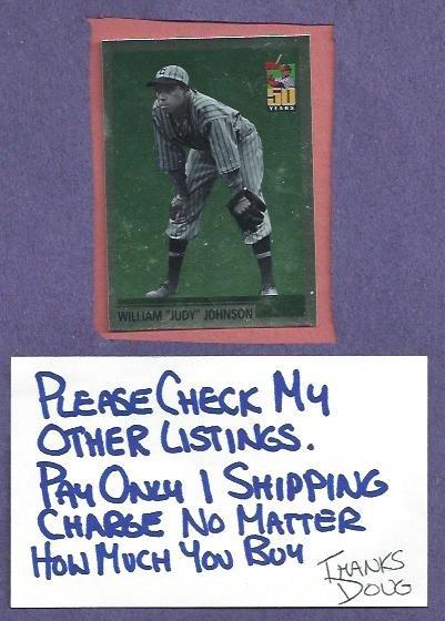 2001 Topps William Judy Johnson Pittsburgh Crawfords # WC87 Insert