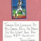 2003 Topps Opening Day Mini Scratchoff Andruw Jones Atlanta Braves