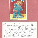1987 Topps Garbage Pail Kids Series 9 Trap Dora # 375a