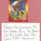 1992 Donruss Triple Play Chris Sabo Cincinnati Reds Autograph # 90