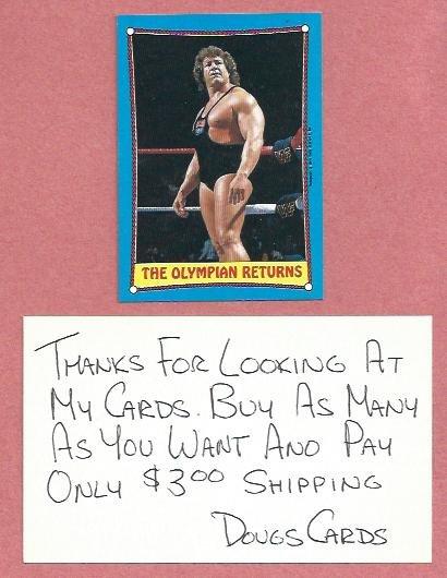 1987 Topps WWF Ken Patera #45 WWE