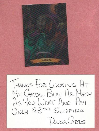 Harry Potter Chocolate Frog Voldemort Card # 10