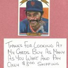 1982 Donruss Diamond Kings George Foster New York Mets # 6
