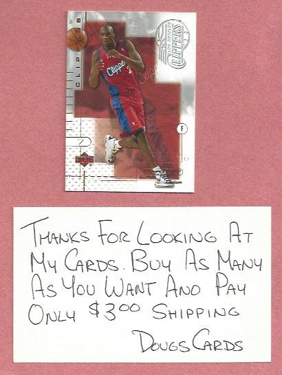 2001 02 Upper Deck Ovation Lamar Odom Los Angeles Clippers # 36