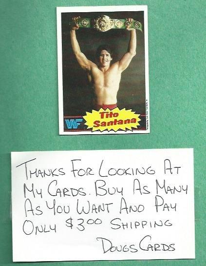 1985 Topps WWF Wrestling Card Tito Santana # 14 WWE
