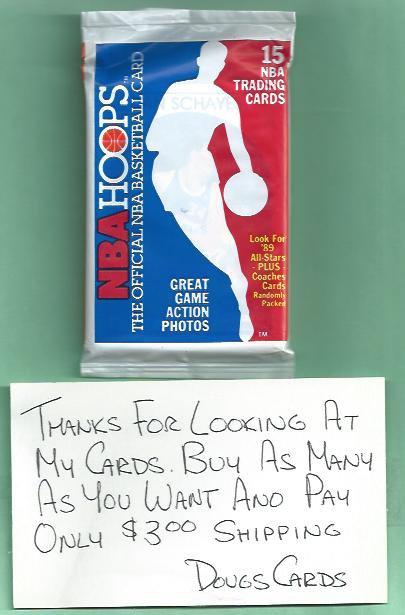 1989 / 90 NBA Hoops Unopened Basketball Pack Michael Jordan Robinson Rookie?
