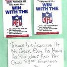 2 1990 Pro Set Football Playbooks