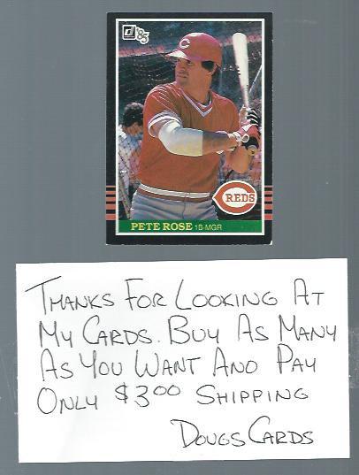 1985 Donruss Pete Rose Cincinnati Reds # 641
