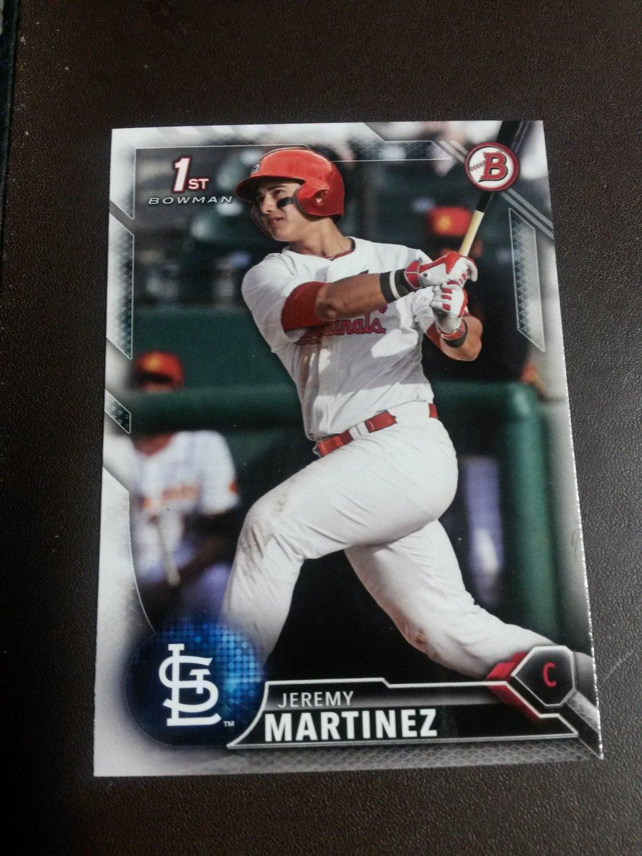 2016 Bowman Draft Jeremy Martinez St Louis Cardinals Rookie # BD-24