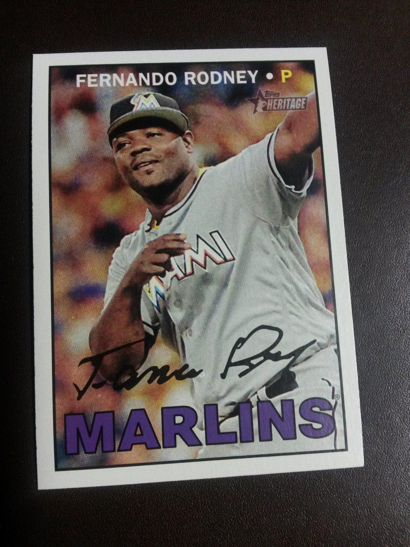 2016 Topps Heritage Fernando Rodney Miami Marlins # 666 High Number
