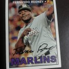 2016 Topps Heritage Fernando Rodney Miami Marlins # 666 High Number