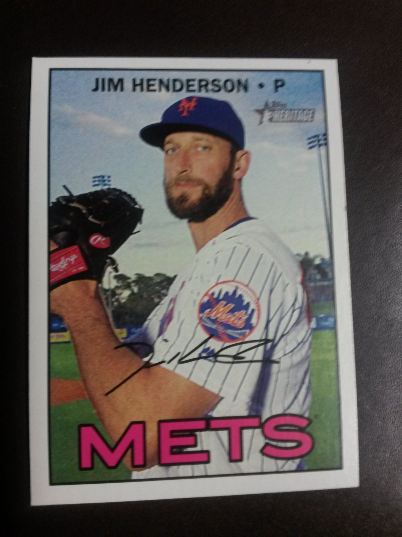 2016 Topps Heritage Jim Henderson New York Mets # 512 High Number
