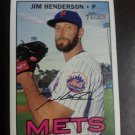 2016 Topps Heritage Jim Henderson New York Mets # 512 High Number