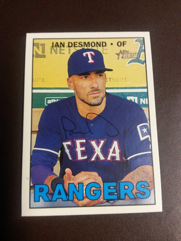 2016 Topps Heritage Ian Desmond Texas Rangers # 624 High Number