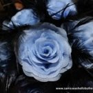 DAMASK & BLUE BRIDAL ROSE BOUQUET **FREE** BOUTONNIERE