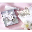 Silver Butterfly Bookmark Silk Tassel Wedding Favor