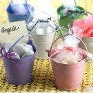 Beach Theme Wedding Favor Pink Beach Buckets Set of 12