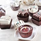 Chocolate Candy Candle Wedding Reception Favors