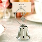 Charming Silver Bell Place Card Holder Wedding Favor