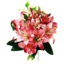 Beautiful Fuschia Lilies Wedding Bridal Bouquet