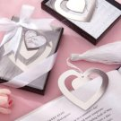 Wedding Favor Love Story Heart Shaped Bookmark