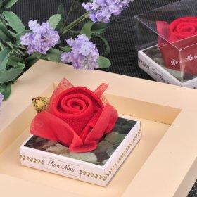 Red Rose Towel Cake Wedding Favor