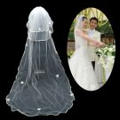 3 Layers Cathedral Length White Wedding Veil TS049