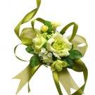 Beautiful Green Silk Rose Wrist Corsage SIM101