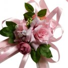 Elegant & Beautiful Pink Silk Rose Wrist Corsage SIM100