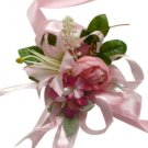 Elegant Pink Silk Rose Wedding Wrist Corsage SIM105