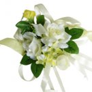 Elegant Ivory Rose Wedding Wrist Corsage SIM104