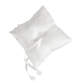 Victorian Style Pearl Accents Wedding Ring Pillow