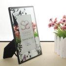 Floral Design Glass Photo Frame Wedding Favor