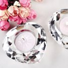 Heart Shaped Shimmering Diamond Tea Light Candle Holder