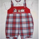 3 month one piece red plaid jumper
