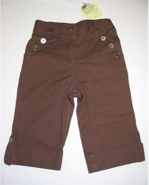 3T brown gaucho pants