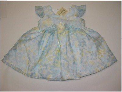 12 month cap sleeve blue floral spring dress