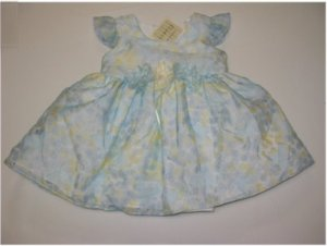 12 month cap sleeve blue floral spring dress