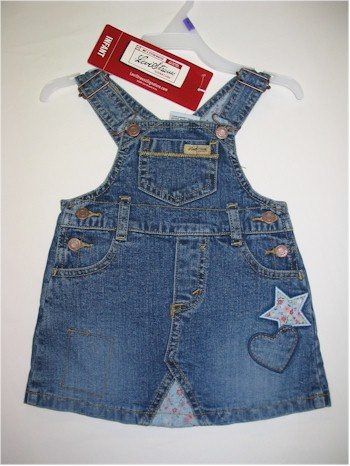 12 month Levi Strauss Signature denim overall skirt