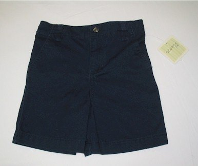 24 month green shirt and navy blue twill shorts