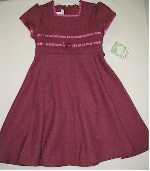size 5 rose pink short sleeve dress