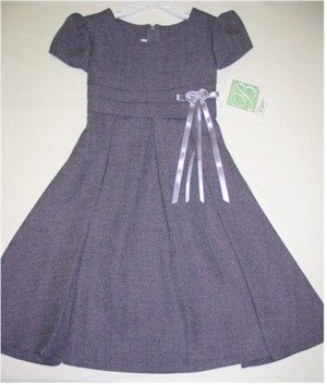 size 5 purple short sleeve dress