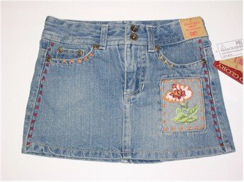size 6 decorative denim skirt