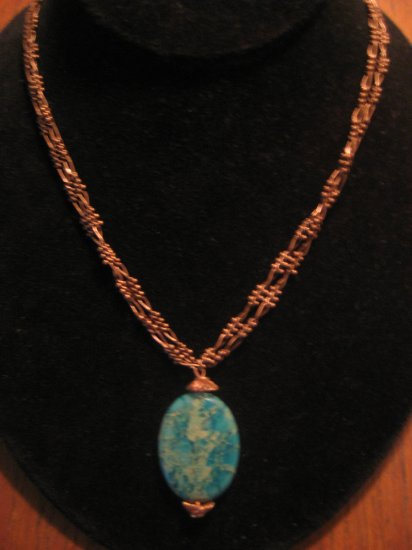 antique copper necklace